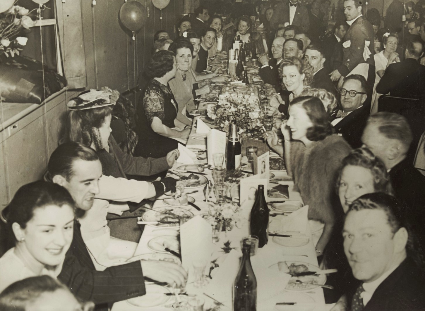 A dinner party at Mario's c 1946.